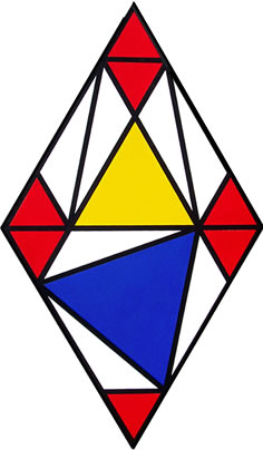 Co-eutrigon Theorem, painting and visual proof of the geometric theorem